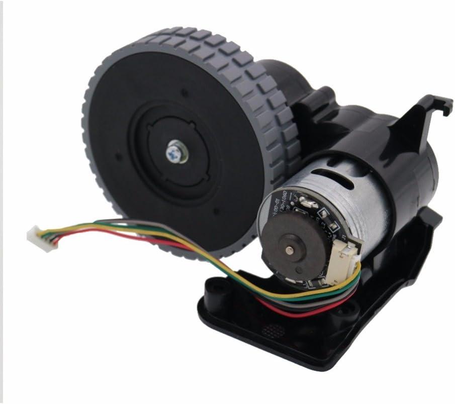 Louu Aspirador Robot Accesorios Piezas para Ilife A4 A4s Ruedas Robot Motores Aspiradora Rueda derecha