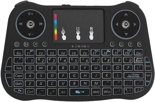 Docooler 2.4 GHz Teclado Inalámbrico Touchpad Mouse Control Remoto de Mano 4 Colores Retroiluminación Colorida Respiración Luces para Android TV Box Smart TV PC Portátil: Amazon.es: Electrónica