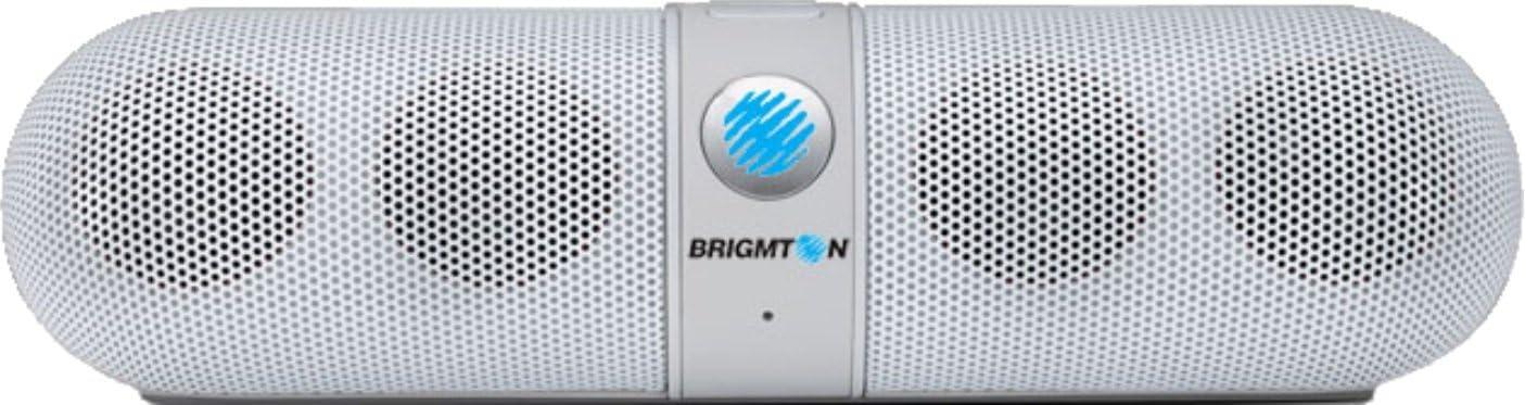 Brigmton BAMP-611-B - Altavoz portátil Bluetooth (reproducción de mp3, funcionamiento batería)