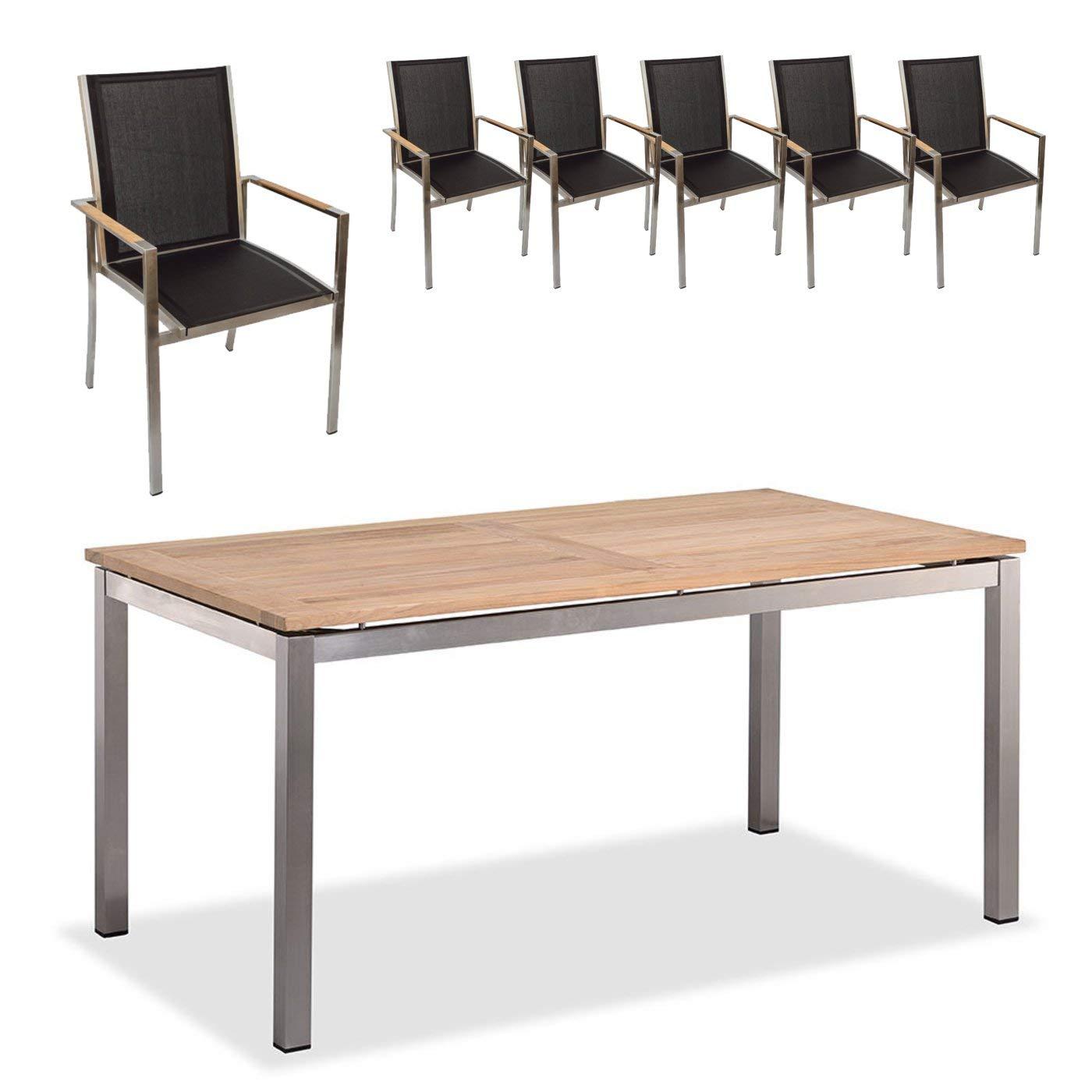 Amazon.de: Edles und Hochwertiges Gartenmöbel Set: 1 Gartentisch und ...