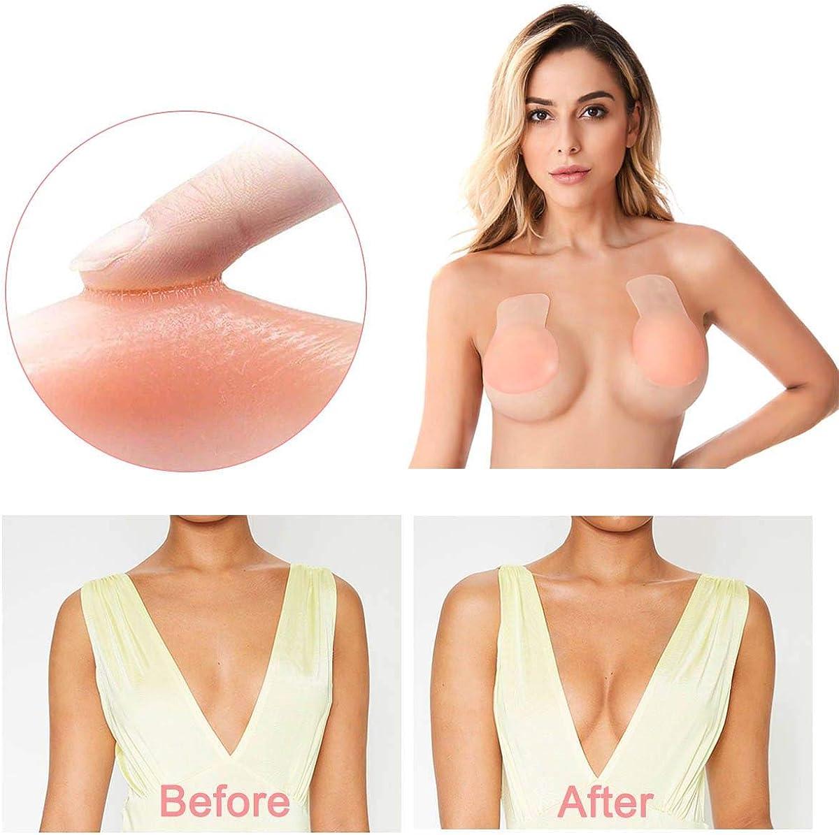 Lift Nipple Covers Strapless Bra for Women Breast Lift Tape Nippleless Cover