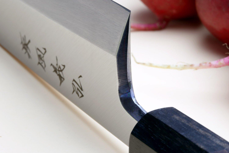Yoshihiro Aonamiuchi Blue Steel #1 Mioroshi Filet Sushi Sashimi Japanese Chef Knife Shitan Handle (9.5'' (240mm)) by Yoshihiro (Image #3)