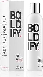 BOLDIFY Hair Boost Thickening Shampoo - Natural Volumizing Shampoo for Fine