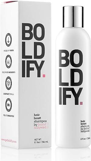 BOLDIFY Hair Boost Thickening Shampoo - Natural Volumizing Shampoo for Fine Hair, No Sulfates, Biotin Shampoo Strand Retention, Anti-Hair Loss Shampoo Instantly Stimulates Thicker & Fuller Hair - 8oz
