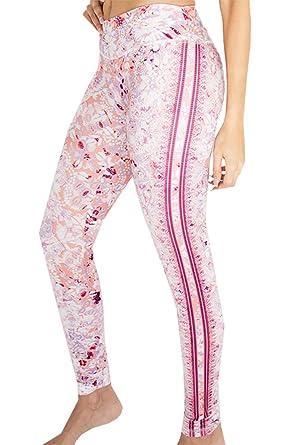 47293167289cb3 Appleletics Women's Unique Multi-Patterned Yoga Leggings Capri Pants  (XX-Small, Rose