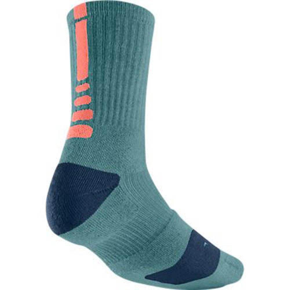 Nike Dri - FitクルーElite Basketball Socks Teal /オレンジsx3692 – 488 SZ。M B00MHYKVL0
