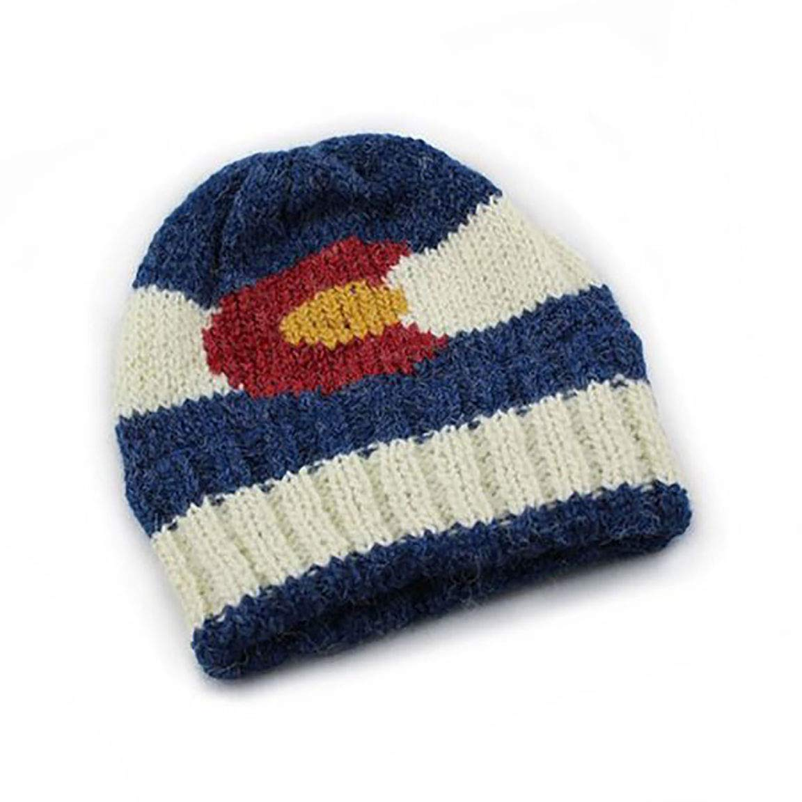 Amazon.com  Colorado Flag Hand-Knit Beanie  Clothing ce503488b