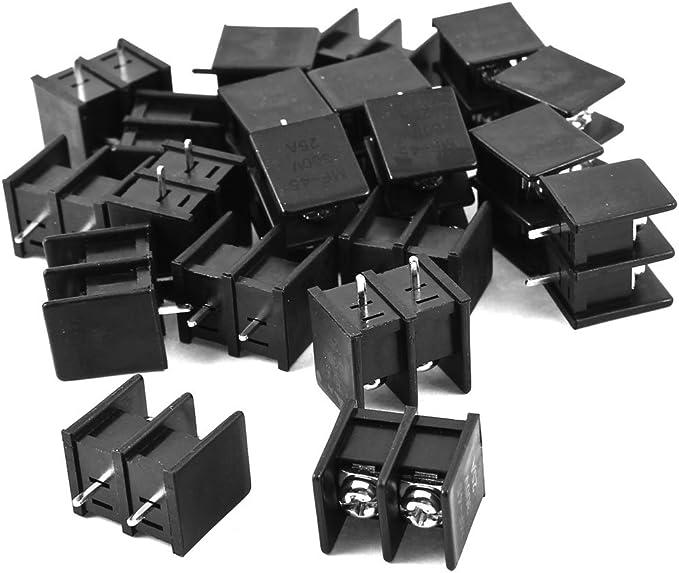 20 Package 2P 7.62mm Pitch Splicing Screw Terminal Block PCB Universal Screw Terminal Block PBC Terminal Block