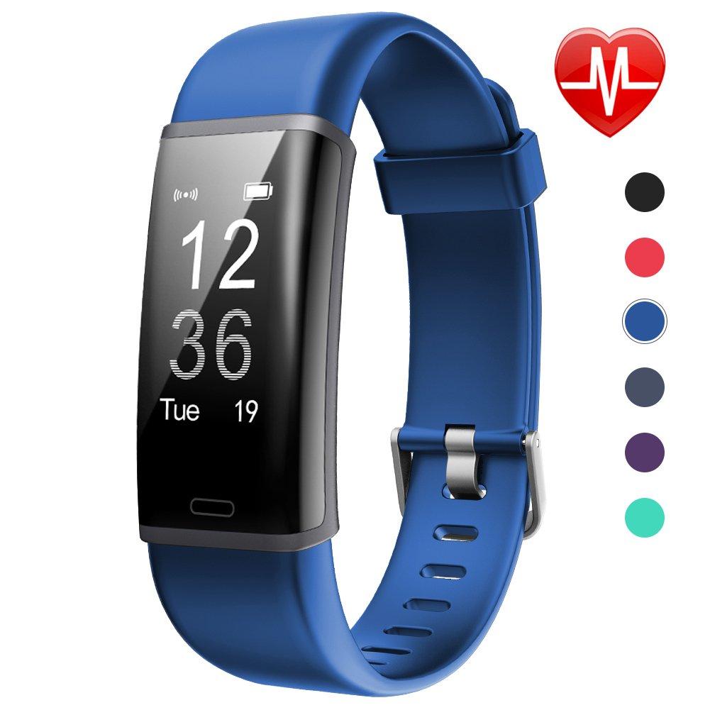 Lintelek Fitness Tracker HR Aktivität Tracker Fitness Armband mit integrierter Herzfrequenzmessung am Handgelenk IP67 Wasserdicht Fitness Uhr mit GPS Schlaftracker Kalorienzähler