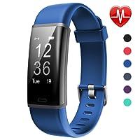 Lintelek Fitness Tracker HR Aktivität Tracker Fitness Armband mit Integrierter Herzfrequenzmessung am Handgelenk IP67 Wasserdicht Fitness Uhr Schlaftracker Kalorienzähler