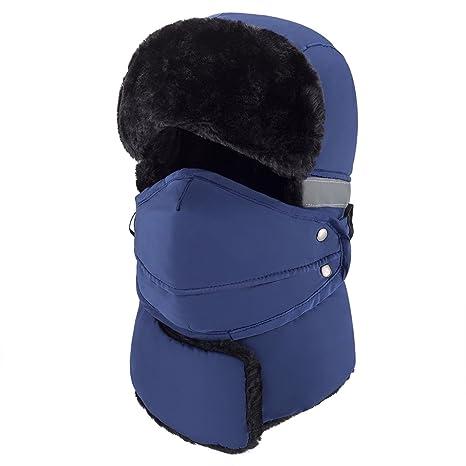0473d852e57 Mysuntown Winter Windproof Warm Hat   Trapper Ushanka Hat