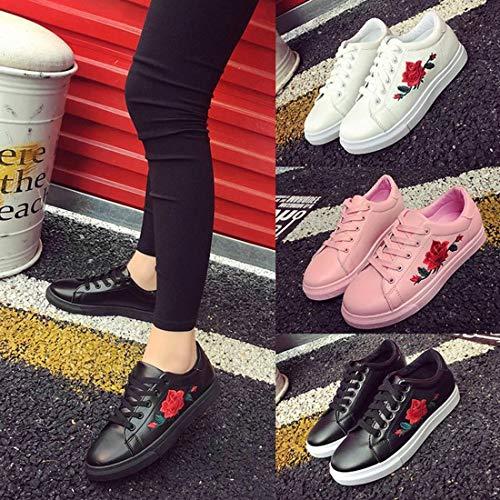 Formulaone Lacets En Femmes 39 Baskets Cuir Chaussures Pu Plates À Plats Rose Pour Bas Talons Basses Avec PHPxnr1q