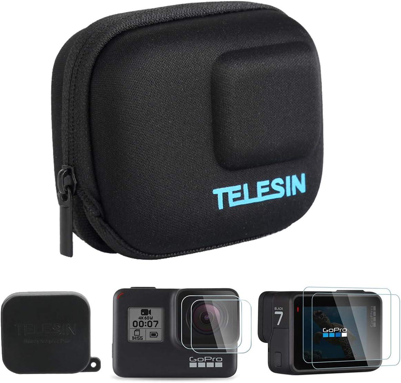 AuyKoo Mini Estuche Portátil para GoPro Hero 7 6 5 Black, Bolsa Protectora de Viaje Protector de Lente Protector Kit de Accesorios: Amazon.es: Deportes y aire libre