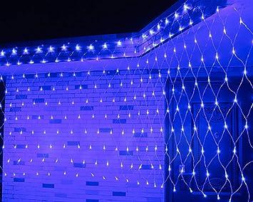FAPROL Jardín Luz De Navidad Red, Exteriores De Navidad De Luce LED Pared Lámpara del Césped Impermeable con 8 Efectos De Luz: Amazon.es: Deportes y aire libre