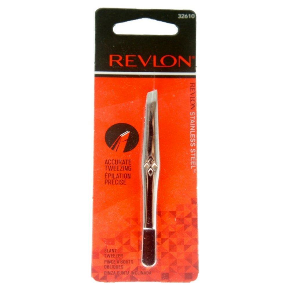 Revlon Stainless Steel Accurate Tweezing 1 ea (Pack of 2) 3151-36