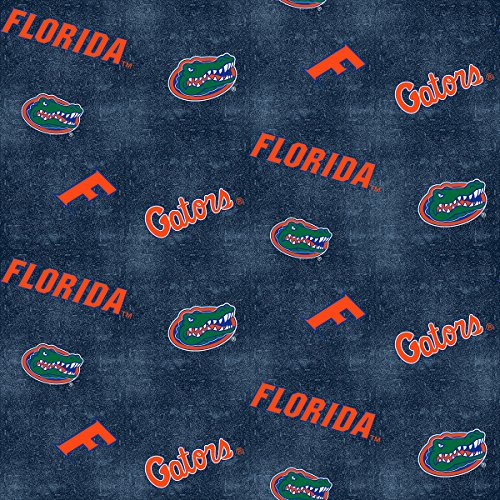 - FLORIDA GATORS FLANNEL FABRIC WITH DISTRESSED GROUND-UNIVERSITY OF FLORIDA 100% COTTON FLANNEL FABRIC SOLD BY THE YARD