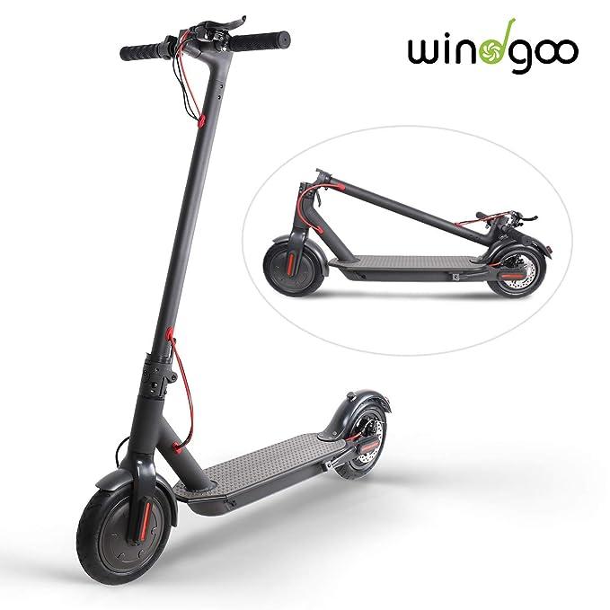 Windgoo Patinete Eléctrico Plegable E Scooter, hasta 25 km/h, Batería de Largo Alcance de 20-22km 36V 6AH, Neumático de 8.5