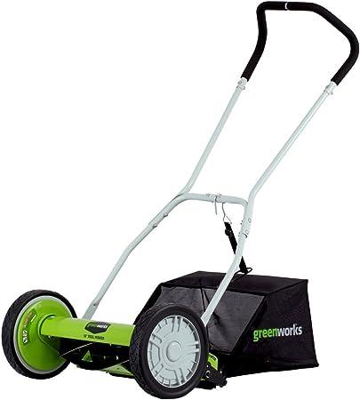 Amazon.com: GreenWorks Cortadora de césped de 5 palas ...
