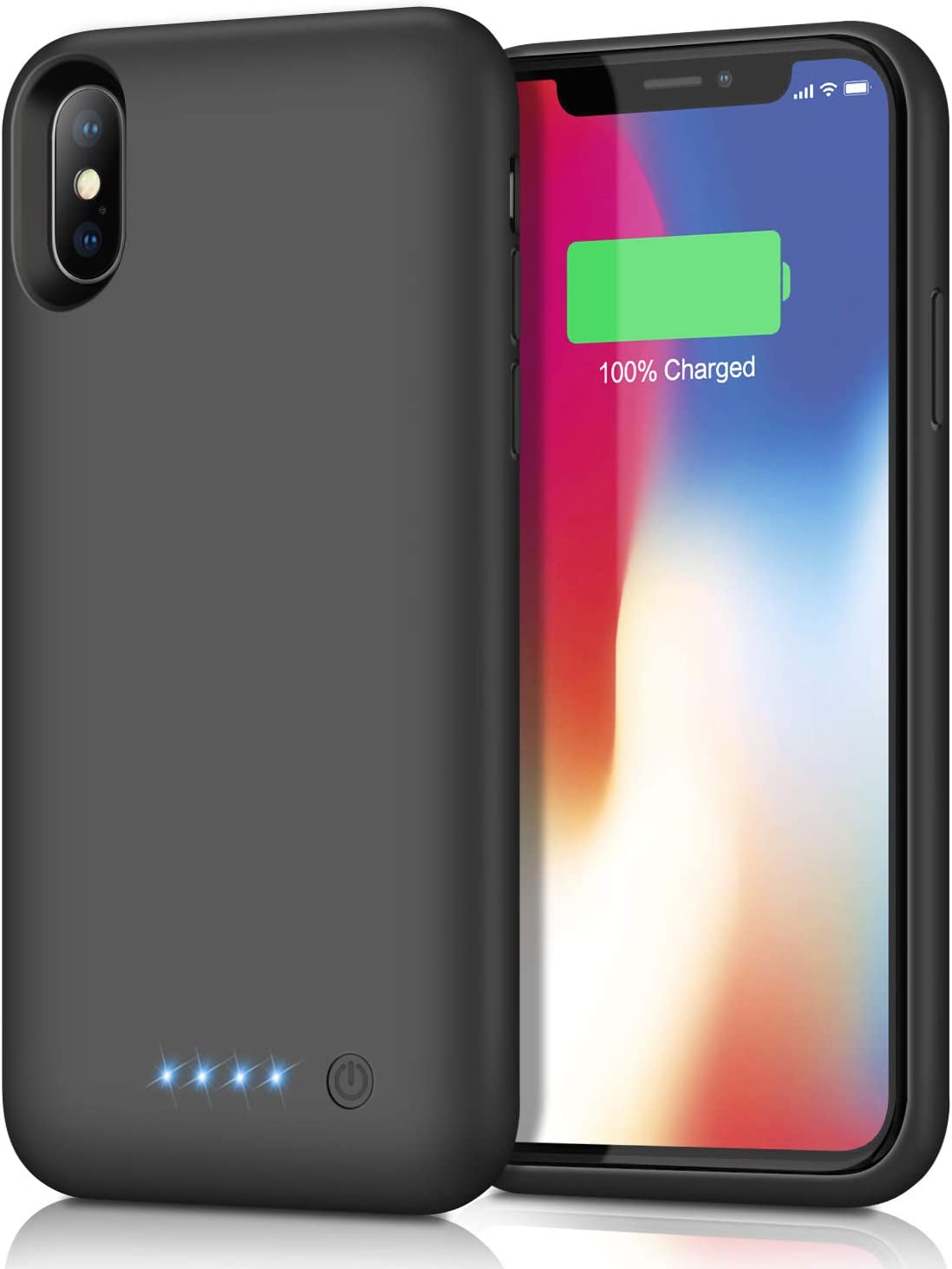 Kilponene Battery Case for iPhone XXS 【2019 Newest Version】6500mAh Charging Case Extended Battery for iPhone XXS Rechargeable Battery Backup Power