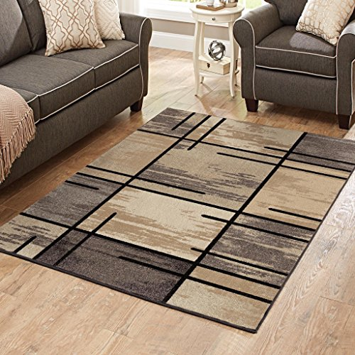 (Better Homes and Gardens Spice Grid Area Rug, Black, 3'11