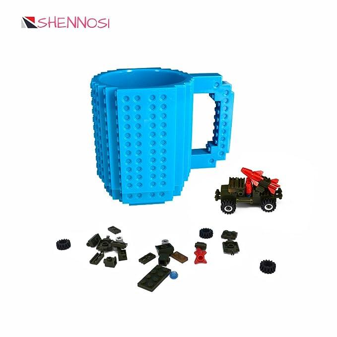1 opinioni per TAZZA LEGO BLU- costruisci direttamente sulla tazza formata da mattoncini- 350