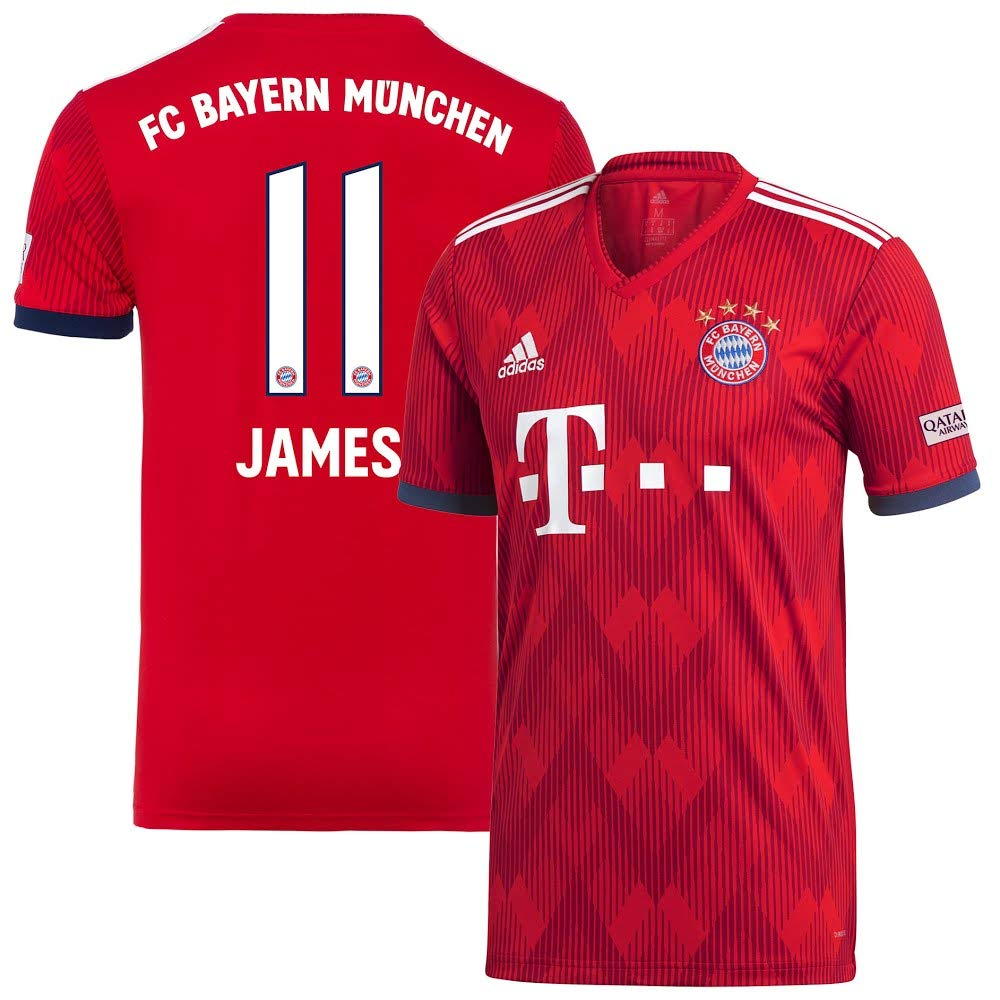 Bayern München Home Trikot 2018 2019 + James 11