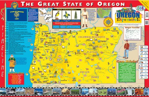 (Gallopade Publishing Group 22 x 34 Inches The Oregon Experience Poster/Map (9780793397792))