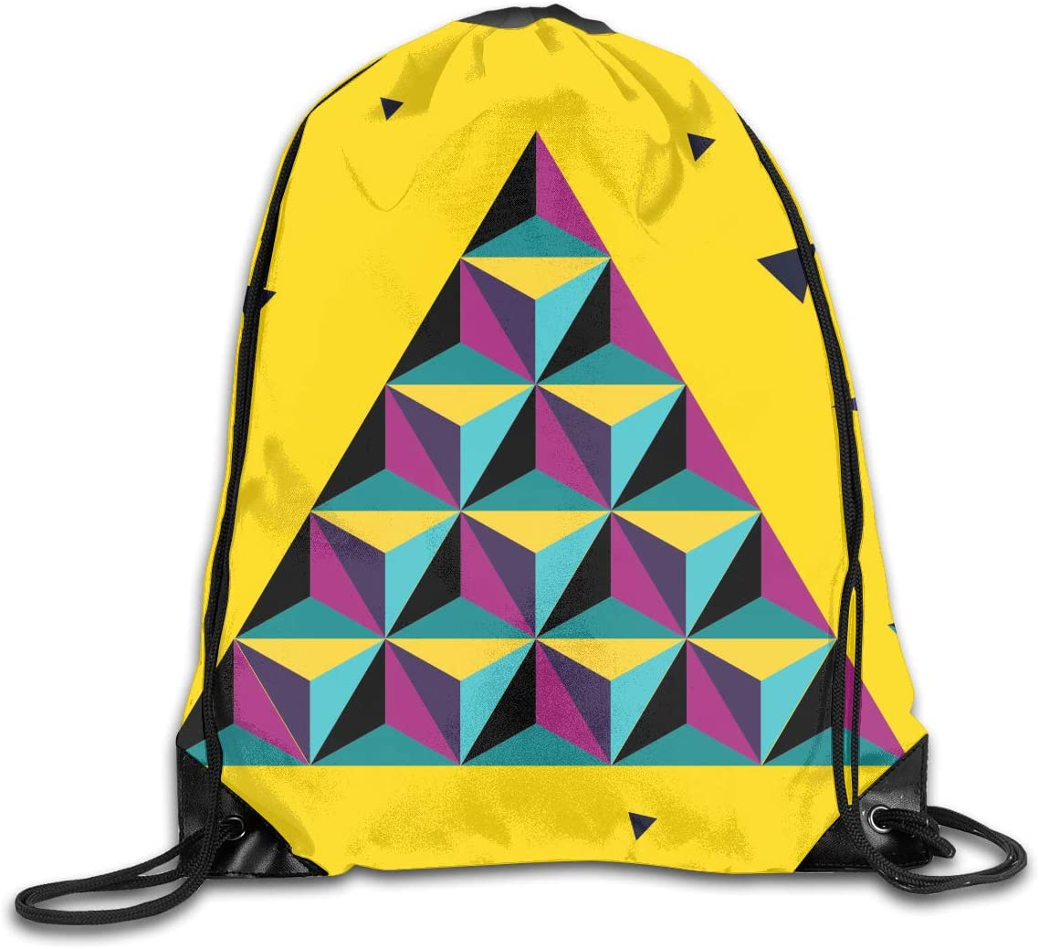 CoolStuff Travel Shoe Bags,Colorful Prisma Background Drawstring Backpack Hiking Climbing Gym Bag,Large Big Durable Reusable Polyester Footwear Protection