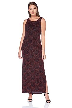 2ace47accd Roman Originals Women's Cowl Back Shimmer Maxi Dress - Ladies Christmas  Party Evening Glamorous Round Neck