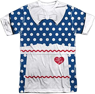 Super Lucy Adult All Over Print 100/% Poly T-Shirt I Love Lucy