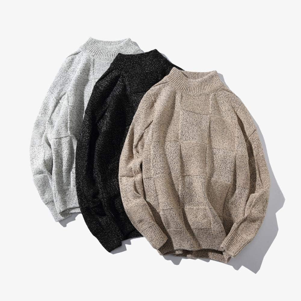 JFHGNJ Maglione Moda Uomo Pullover Maglione Uomo O-Collo Striscia Slim Fit Maglieria Uomo Maglioni Uomo Pullover Uomo Top 5XL Black