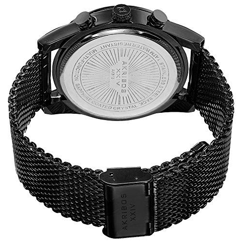 Akribos XXIV Men's AK885BK Quartz Multifunction Strap and Bracelet Watch Set by Akribos XXIV (Image #3)