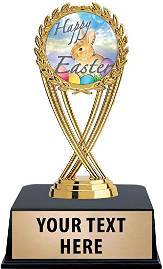 Crown Awards Easter Trophies with Custom Engraving 7.25 Personalized Kids Easter Trophy On Deluxe Round Base
