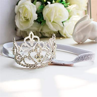 Girl Baby Girl Toddlers Cute Crown Tiara Silver Star Minnie Mouse Soft Headband