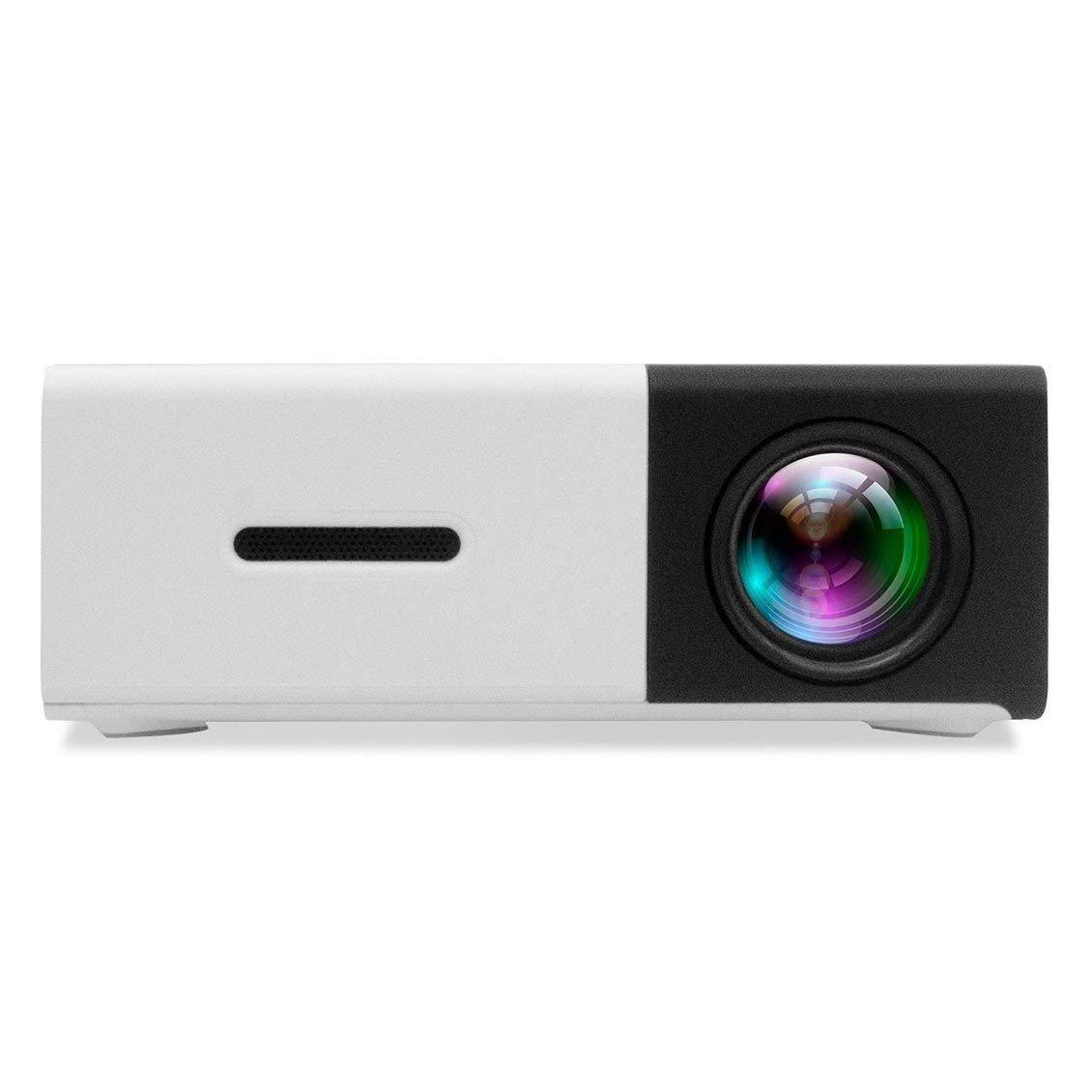 YOMRIC Proyector Mini-proyector DP300, proyector LED portátil Cine ...