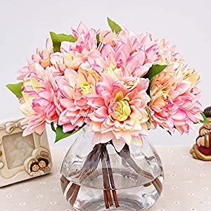 Auxsoul 1Bouquet 3Pcs Caroline Dahlia Artificial Flowers Home Room Wedding Decor Novelty 51