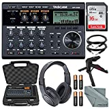 Tascam DP-006 6-track Digital Pocketstudio and Deluxe Accessory Bundle w/Headphones + Case + Cables + 16GB + Xpix Tripod + More