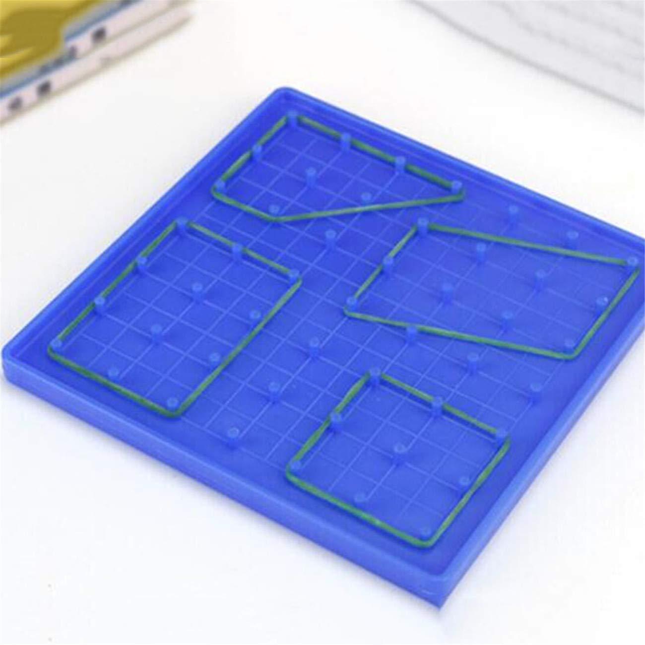 Bigsweety Forme G/éom/étrique D/émo Clou/é Plaque Enfants Primaire Math/ématiques Polygone Jouets Cognitifs Zone De Polygone Calcul Outil