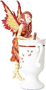GiftImpact Amy Brown Fantasy Art Afternoon Tea Time Collection- I Need Coffee Mug Faery Tea Cup Fairies Statue (Cider)