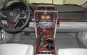 PATA Interior BURL Wood Dash Trim KIT Set for Toyota Camry 2015 2016 2017