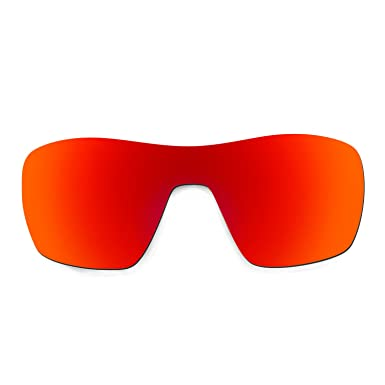HKUCO Mens Replacement Lenses For Oakley Flak Jacket XLJ Sunglasses Red Polarized afRteh