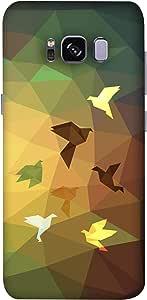 ColorKing Samsung S8 Plus Case Shell Cover - Paper birds 002 Multi Color