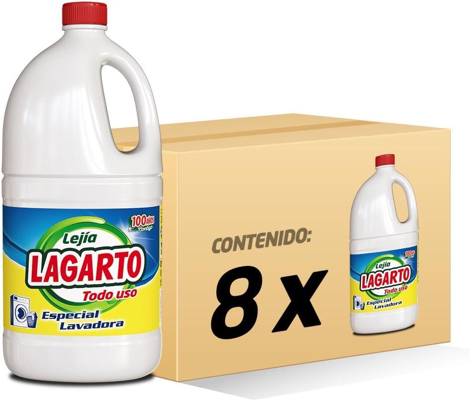 Lagarto Lejía Lavadora - Todo Uso - Paquete de 8 x 2000 ml - Total ...