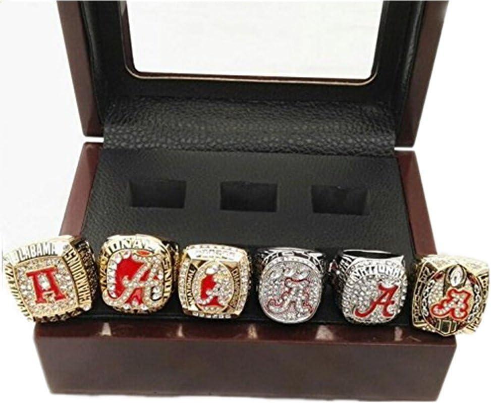 6 PCS Alabama Crimson Tide Championship Rings In Set
