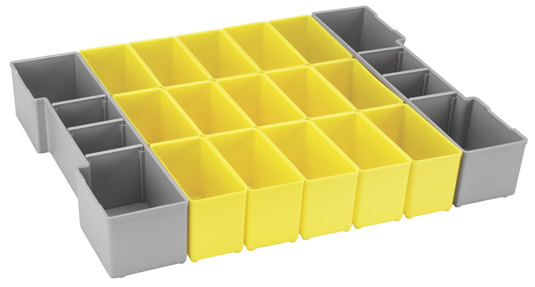 Bosch Bosch ORG1A-YELLOW Organizer Set for L-BOXX-1A, Part of Click and Go Mobile Transport System, 17-Piece