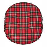 Pcp Removable Foam Ring Cushion, Plaid, 18 inch