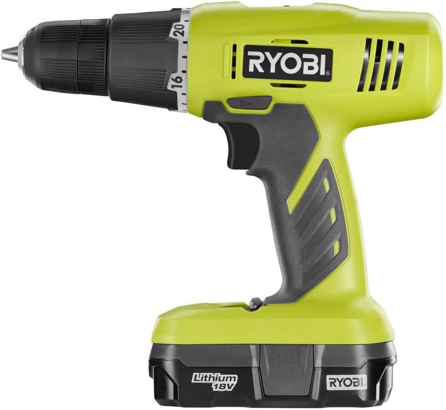 Ryobi P1810 One 18V Lithium Ion Drill Driver Kit 3 Piece 1 x P209 Drill Driver, 1 x P102 18 V Lithium Ion Battery, 1 x P118 Dual Chemistry Charger
