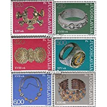 Yugoslavia 1587-1592 (complete.issue.) 1975 Museum Exhibits (Stamps for collectors)