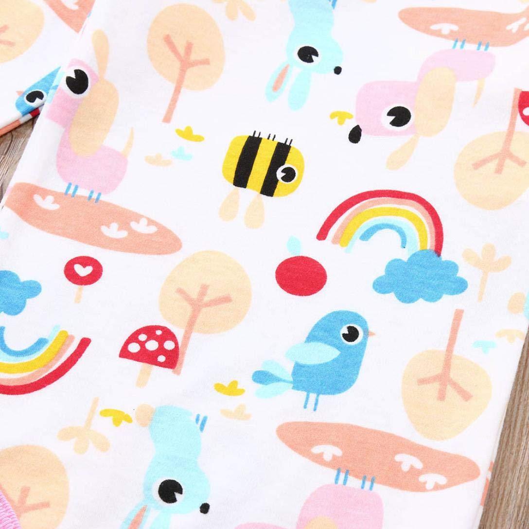Xshuai /® Toddler Infant Baby Boys Girls Long Sleeves Bodysuit Animal Print Romper Jumpsuit