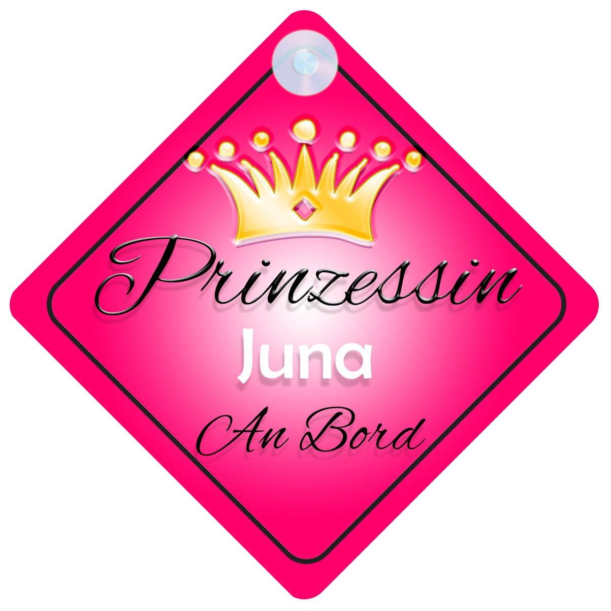 Kind an Bord M/ädchen Auto-Zeichen Prinzessin Juna Baby Prinzessin001